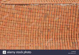 Bowed Terracotta Roof Tiles In Havana Cuba Stock Photo Royalty