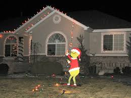 home and decor ideas christmas christmas giant grinch stealing lights yard by