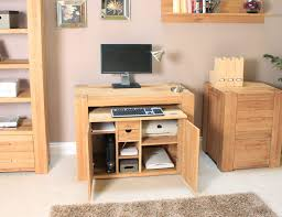 interior design hideaway computer desk wooden material for your