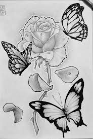 top 25 best rose and butterfly tattoo ideas on pinterest flower