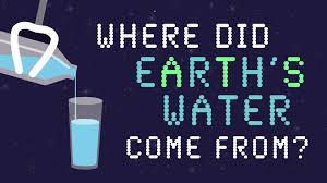 where did earth s water come from zachary metz