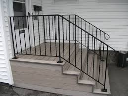 iron railing stair exterior wrought iron railing building wood