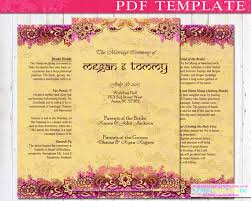 indian wedding program template indian wedding program booklet template diy by indiantemplatesinc