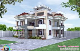 80x90 three storied house plan kerala home design and floor plans