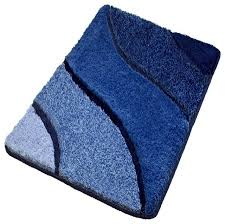 Magnificent Royal Blue Bathroom Rugs Single Piece Royal Blue Bath - Designer bathroom rugs and mats