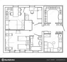 dessiner salle de bain noir et blanc plan architectural d u0027une maison agencement de l