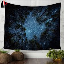 popular starry night tapestry buy cheap starry night tapestry lots miracille beautiful night sky wall tapestry home decorations wall hanging forest starry night tapestries for living