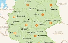 map of gemany map of germany germany region guides