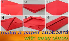 how to make a paper fold item make a origami paper cupboard kids