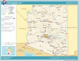 us map arizona state united states geography for arizona