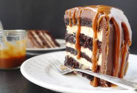 salted caramel chocolate fudge cake domestic gothess