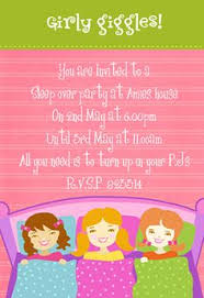 this site has many free invitations for a sleepover party and they