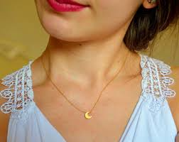 necklace moon gold images Gold moon necklace etsy jpg