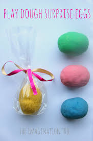 easter eggs surprises diy play dough eggs the imagination tree