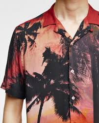 palm tree photo shirt in zara spain