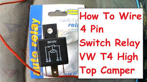 how to wire 4 pin relay for van campervan fridge or appliance