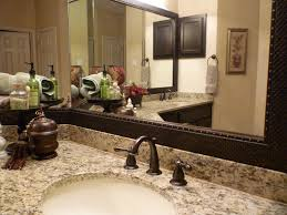 custom mirror frames with contemporary bathroom mirror frame kit