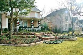 Tiered Backyard Landscaping Ideas Tiered Landscape Tiered Boulder Retaining Walls Are Installed To