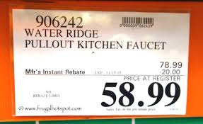wr kitchen faucet costco sale waterridge pull out kitchen faucet 58 99 frugal