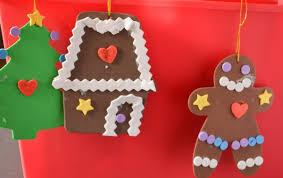 crafts for foam gingerbread ornaments