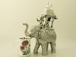 sterling silver indian elephant table ornament vintage