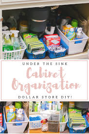 the kitchen sink cabinet organization the kitchen sink organization diy by m