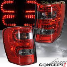 jeep grand cherokee led tail lights 1999 2004 jeep grand cherokee led tail lights l e d red smoked