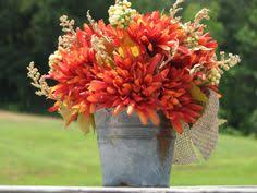 Tin Buckets For Centerpieces by Clearance Price 15 Dollars Rustic Fall Centerpiece Metal Bucket