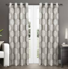 Spencer Home Decor Window Panels by Amazon Com Exclusive Home Curtains Akola Medallion Linen Jacquard
