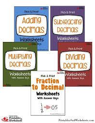 pick u0026 print decimals worksheets bundle printables u0026 worksheets