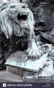 roaring lion statue bronze roaring lion of st and book from base of victor