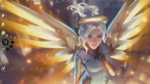 halloween mercy background wallpaper engine mercy overwatch youtube