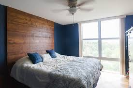 Wood Headboard Diy Diy Floor To Ceiling Wooden Headboard How We Did It Jonna