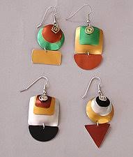 aluminum earrings sylvi harwin eclat by sylvi jewelry artist artful home
