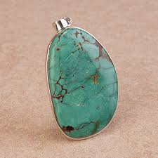 silver turquoise pendant necklace images Turquoise pendant dramatic ladies jewellery stone mania jpg