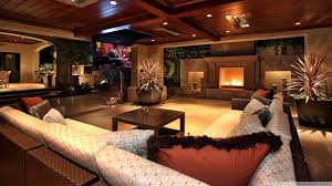 Luxury Homes Interior Design Pictures by Beautiful Luxury House Living Room Fireplace Furniture Glass