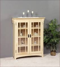 mission style bookcase with glass doors home design ideas