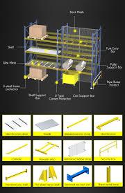 steel stage platforms heavy duty pallet rack structure mezzanine