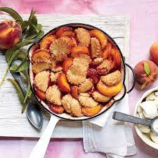 ginger peach shortbread cobbler recipe myrecipes