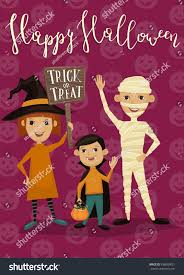 halloween night party banner funny kids stock vector 498659851