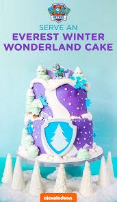 cing birthday party throw a paw patrol everest birthday party teal cake paw patrol