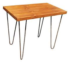 Hairpin Leg Console Table Vintage Industrial Side Console Table Rustic Bench With Hairpin