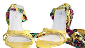 ribbon wedges millen multi color yellow ribbon wedges size eu 38 approx