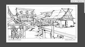 line art market place line drawing process no sound youtube