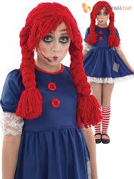 age 4 12 girls dead broken rag doll costume halloween fancy dress