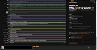 script chat dark theme plus stack apps