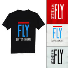 fan made t shirts got7 1st concert fly fanmade t shirt sgkpopper