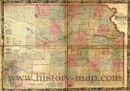 Kansas State Map by Railroad Map