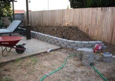 garden wall stones home depot red charcoal concrete retaining