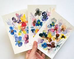 water color cards watercolor cards etsy